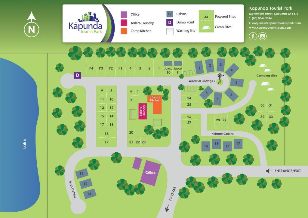 Kapunda Tourist Park Map MAR 2021